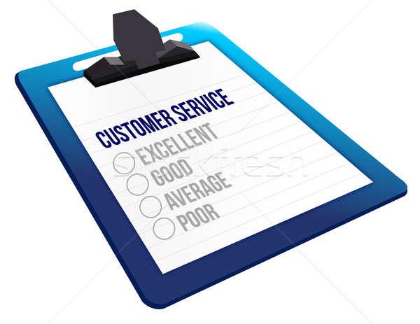 Cuestionario servicio al cliente feedback iconos diseno signo Foto stock © alexmillos