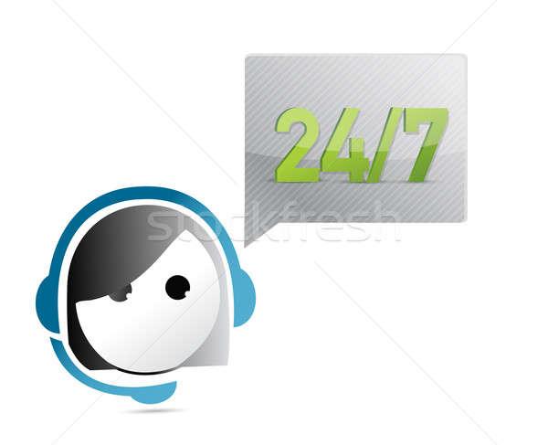 24 illustratie ontwerp witte gezicht Stockfoto © alexmillos