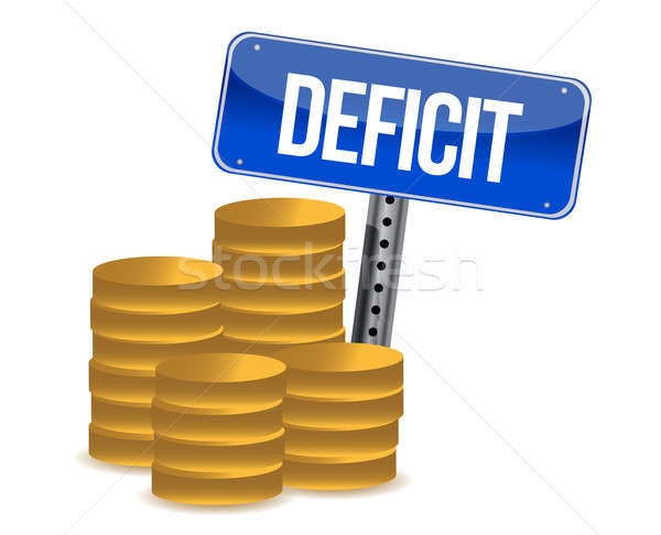 Deficit and coins Stock photo © alexmillos