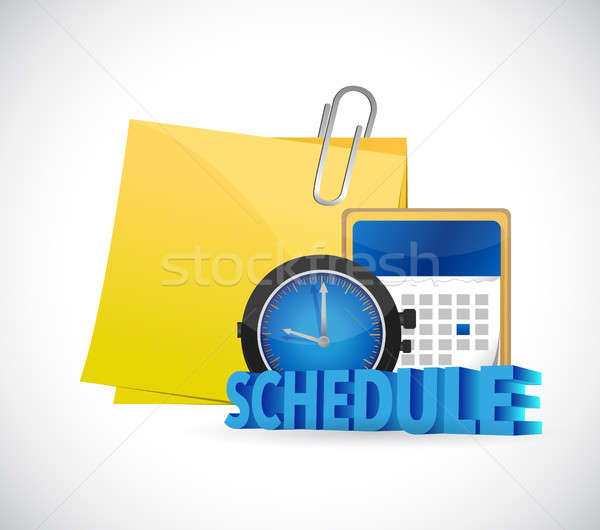 post it to schedule in a calendar. Stock photo © alexmillos