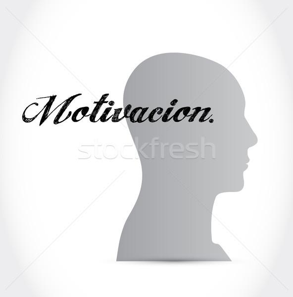 Motivación mente signo espanol ilustración diseno Foto stock © alexmillos