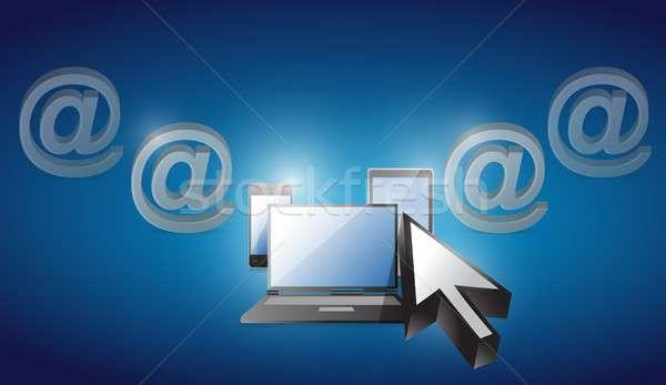 Elektronik seçilmiş mavi örnek dizayn telefon Stok fotoğraf © alexmillos