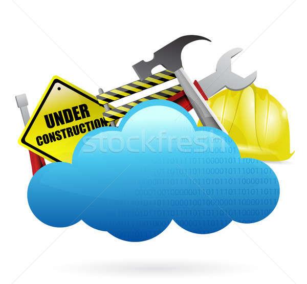 under construction cloud computing concept Stock photo © alexmillos