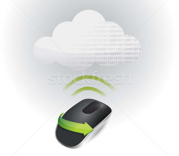 cloud signal and Wireless computer mouse Stock photo © alexmillos