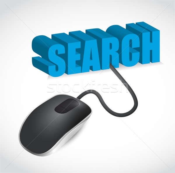 Mouse de computador pesquisar ilustração projeto branco mouse Foto stock © alexmillos