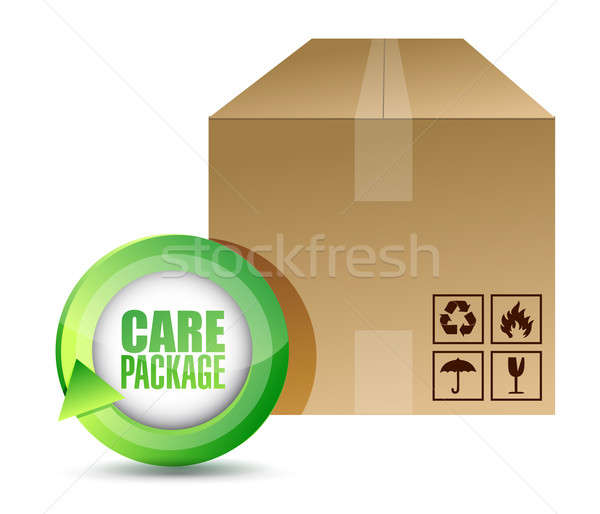 care package illustration design Stock photo © alexmillos