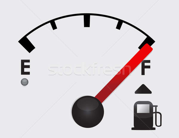 Full gas tank detail illustration design with icons Stock photo © alexmillos
