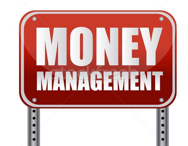 деньги управления красный улице подписать белый знак Сток-фото © alexmillos