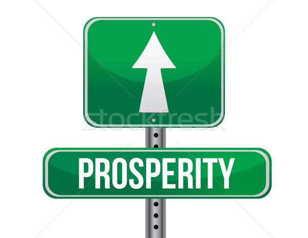 prosperity road sign illustration design over a white background Stock photo © alexmillos