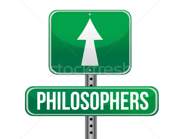 philosophers road sign illustration design over a white backgrou Stock photo © alexmillos