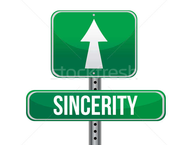 sincerity road sign illustration design over a white background Stock photo © alexmillos
