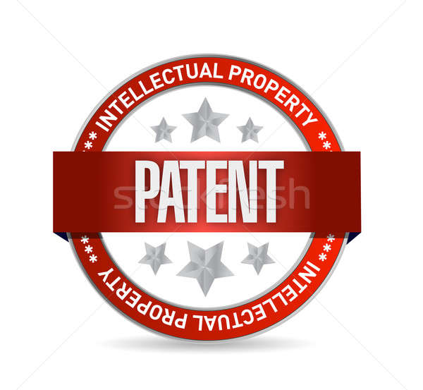 patent seal stamp illustration design over a white background Stock photo © alexmillos