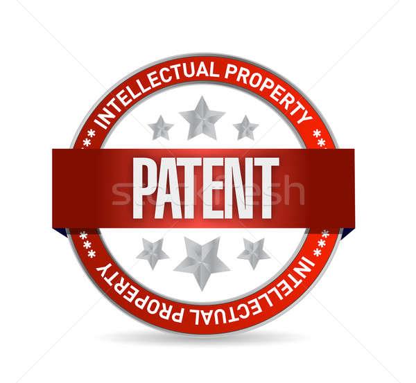 патент печать штампа иллюстрация дизайна белый Сток-фото © alexmillos