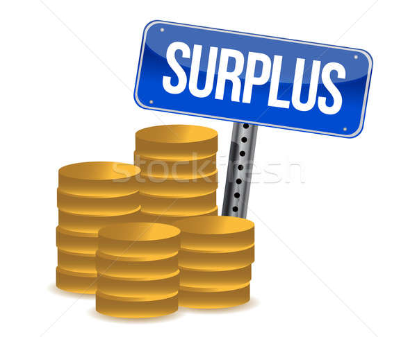 surplus money illustration design over a white background Stock photo © alexmillos