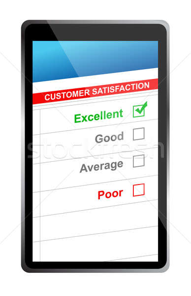 customer satisfaction online selection tablet PC. Illustration d Stock photo © alexmillos