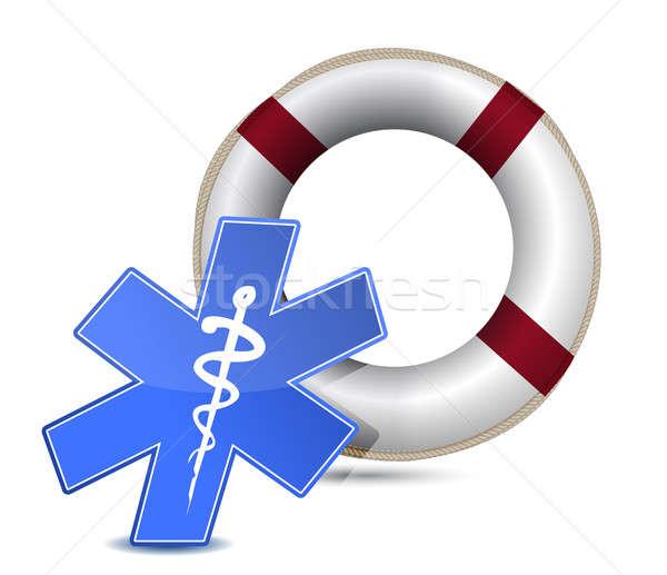 SOS medical wealth illustration design over white background Stock photo © alexmillos