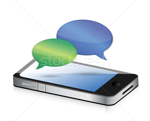 Kommunikation Smartphone Illustration Design Grafik Stock foto © alexmillos