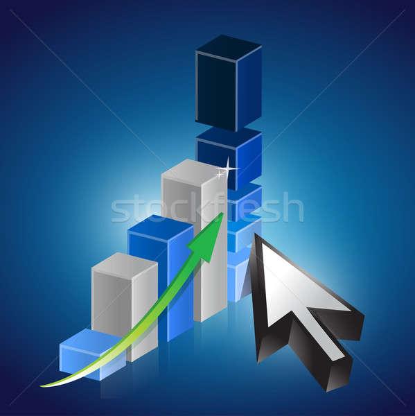 ビジネスグラフ カーソル 抽象的な 金融 市場 将来 ストックフォト © alexmillos