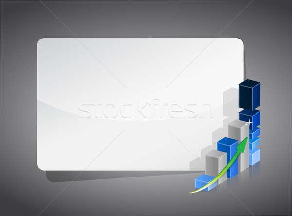 üzleti grafikon bemutató tábla siker fehér tiszta Stock fotó © alexmillos