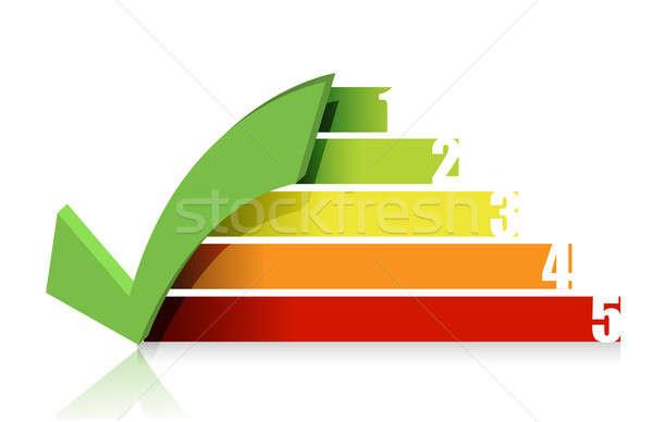 Checkmark colorful graph illustration design Stock photo © alexmillos