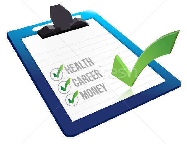 Questionnaire entrevue papier santé fond question Photo stock © alexmillos