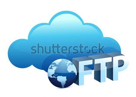 Nube ftp texto cantar Internet mundo Foto stock © alexmillos