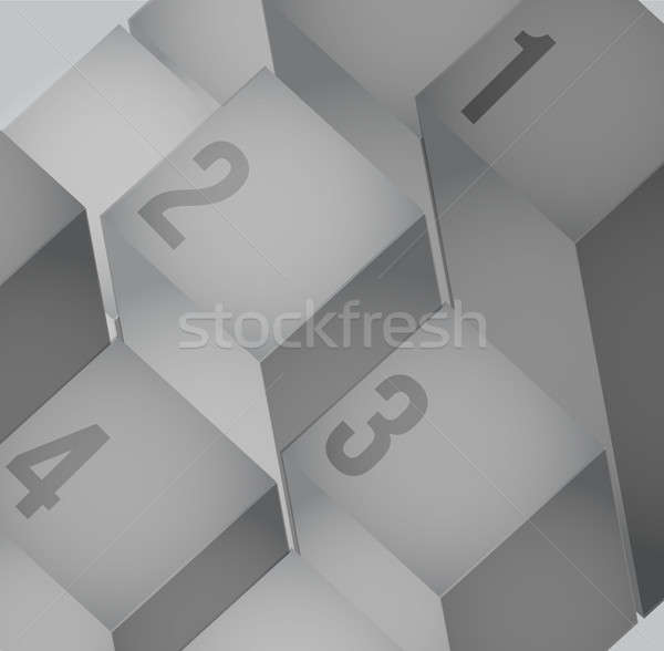 Abstract cubes background with copy spaces Stock photo © alexmillos