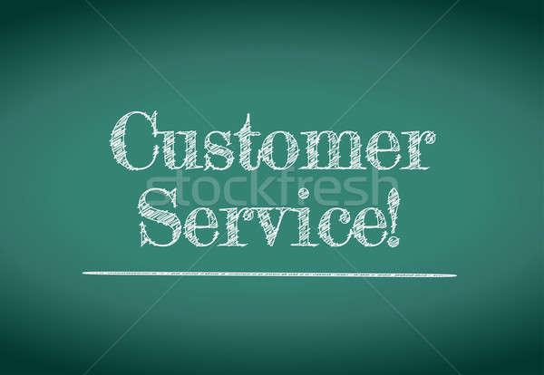 customer service illustration design over a white background Stock photo © alexmillos