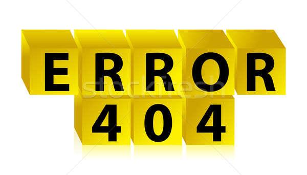 Errore di 404 illustrazione design business internet Foto d'archivio © alexmillos