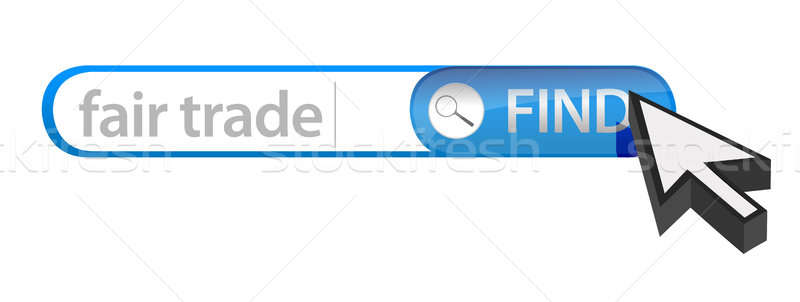 Search bar containing a fair trade concept  Stock photo © alexmillos