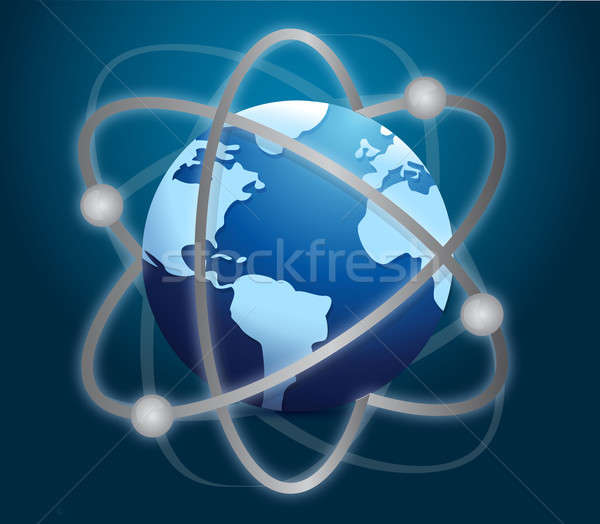 Internetu global business streszczenie świat technologii internetowych Zdjęcia stock © alexmillos