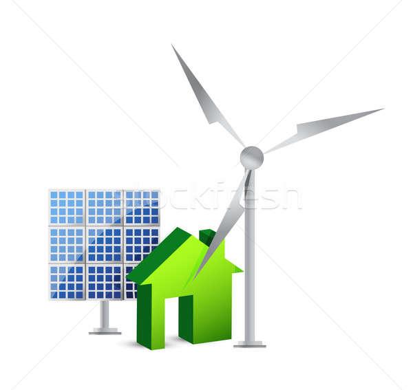 House energy saving concept Stock photo © alexmillos