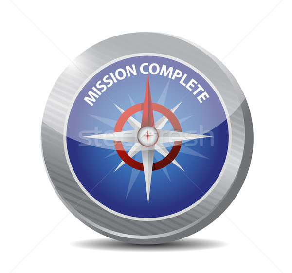 mission complete compass sign concept Stock photo © alexmillos