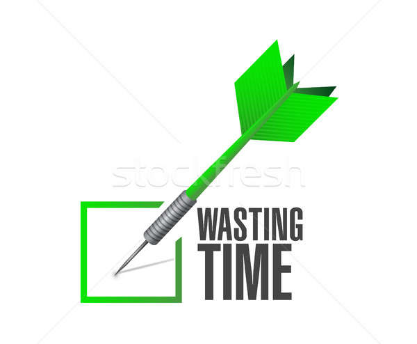 Wasting time check dart sign concept Stock photo © alexmillos