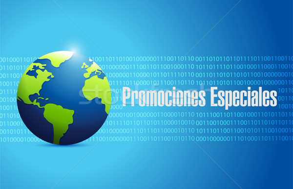 special promotions in Spanish international sign Stock photo © alexmillos