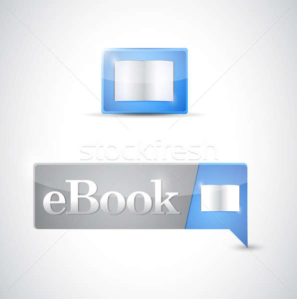 Symbol Taste blau download Illustration Stock foto © alexmillos