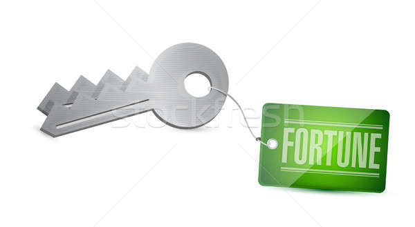 Keys To Your Fortune Concept Illustration design Stock photo © alexmillos