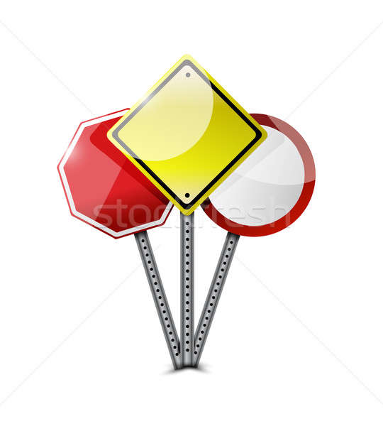 road sign graphic element. illustration design Stock photo © alexmillos