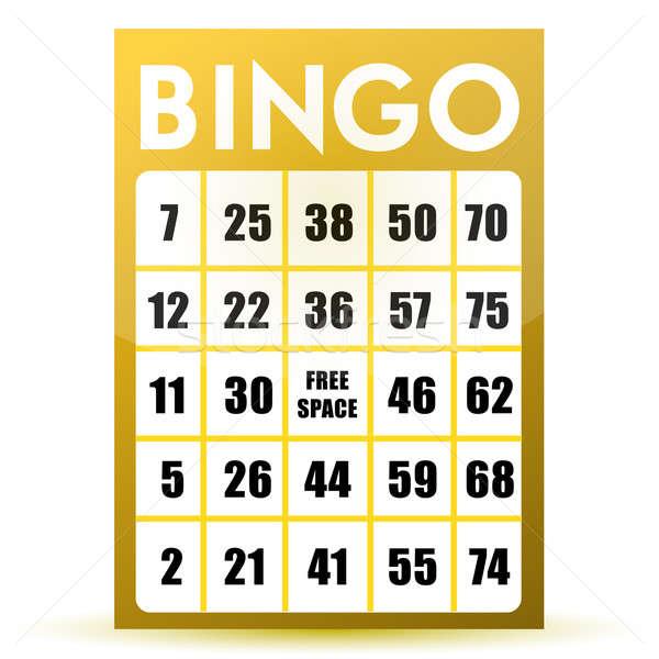 Bingo kaart illustratie ontwerp geïsoleerd witte Stockfoto © alexmillos