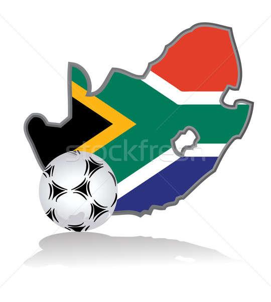 Afrique du Sud ballon fond pied blanche jeu Photo stock © alexmillos