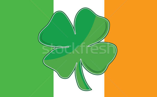 Irish Four Leaf Clover flag. eps available / Irish Leaf clover f Stock photo © alexmillos