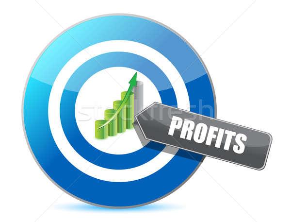 Business target grafico illustrazione design Foto d'archivio © alexmillos