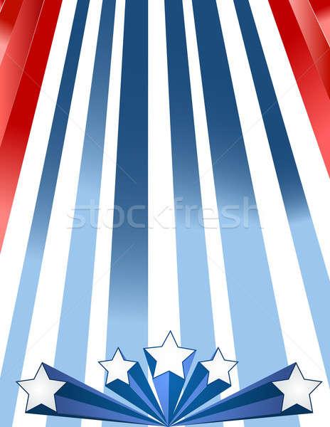 Vatansever Yıldız bayrak tatil afiş ABD Stok fotoğraf © alexmillos