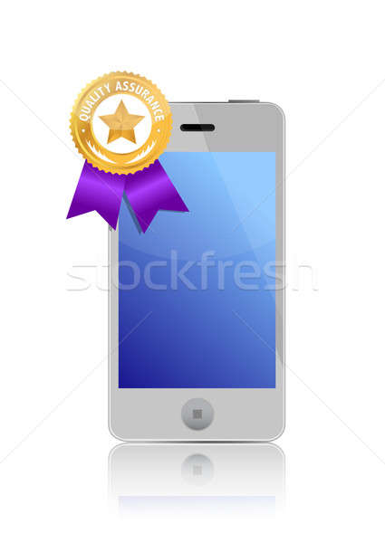 Quality assurance seal on phone Stock photo © alexmillos