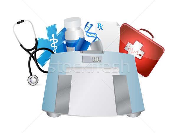 Zdjęcia stock: Medycznych · symbolika · masy · skali · ilustracja · projektu