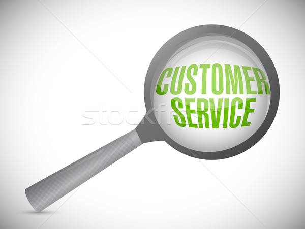 customer service under inspection. illustration design over whit Stock photo © alexmillos