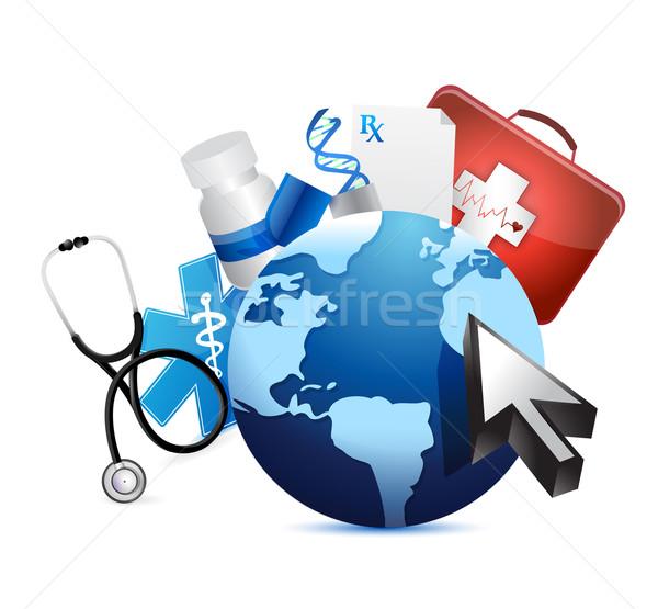 Internationaux graphique médicaux illustration design blanche Photo stock © alexmillos