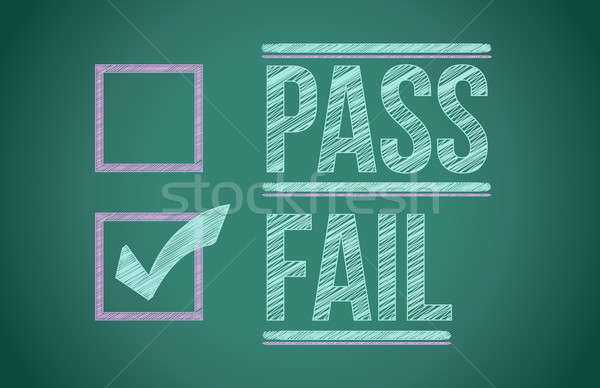 Stock photo: check mark for fail selection illustration design