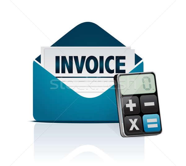 Invoice and modern calculator  Stock photo © alexmillos