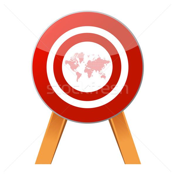 Target the world Stock photo © alexmillos